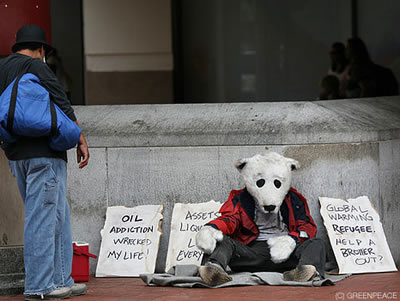 Spread the Word: Homeless Polar Bears Take to the Streets