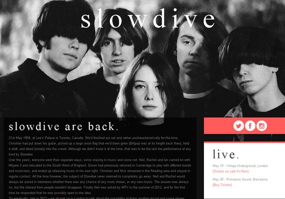 Slowdive - Are back